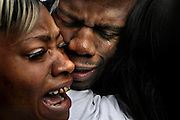 Tyrone Brown is held by his sister Tamika Brown and his mother Nora Brown immediately after being released from the Texas prison system. Tyrone Brown was granted a pardon after serving 17 years after a judge sentenced him to life after smoking marijuana while on parole.