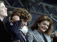 A 29 MG IMAGE OF:..Caroline, John Jr. and Jackie Kennedy at the opening of the JF K library in October 1979..Photo by Dennis Brack  F B 1