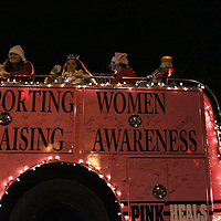 Pink Heals participates in the 12th Annual Wilmington Holiday Parade Sunday December 7, 2014 in Wilmington, N.C. (Jason A. Frizzelle)