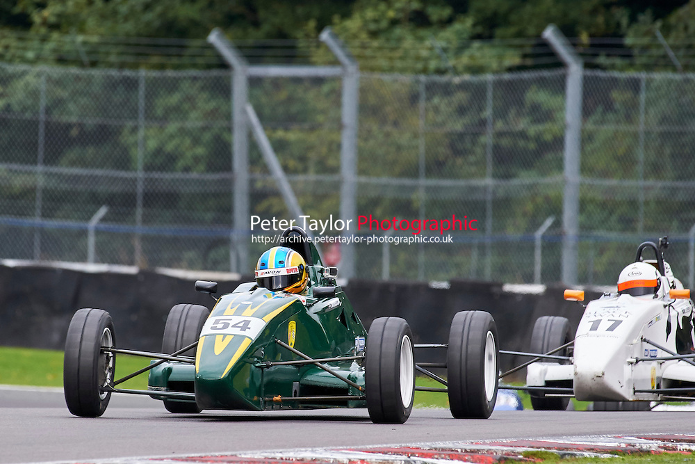 #54 Douglas Crosbie Van Diemen JL13 during Avon Tyres Formula Ford 1600 Northern Championship - Prost 89 Race 2 as part of the BRSCC Fun Cup Oulton Park 17th October 2015 at Oulton Park, Little Budworth, Cheshire, United Kingdom. October 17 2015. World Copyright Taylor/PSP. Copy of publication required for printed pictures.  Every used picture is fee-liable. http://archive.petertaylor-photographic.co.uk