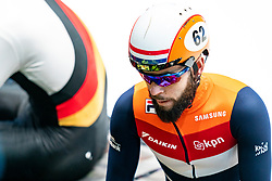Sjinkie Knegt in action on the semi finale 1500 meter during ISU World Cup Finals Shorttrack 2020 on February 15, 2020 in Optisport Sportboulevard Dordrecht.