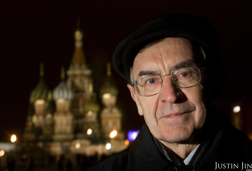 Portrait of Nikolay Arkhangelskiy, Section Head of Rosatom, Russia's Federal Atomic Energy Agency. Arkhangelskiy, photographed in Moscow's Red Square in front of the St. Basil's Cathedral, is one of the world's leading experts on nuclear technology.