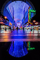 Light show, Fremont Street Experience, Downtown Las Vegas, Nevada USA.