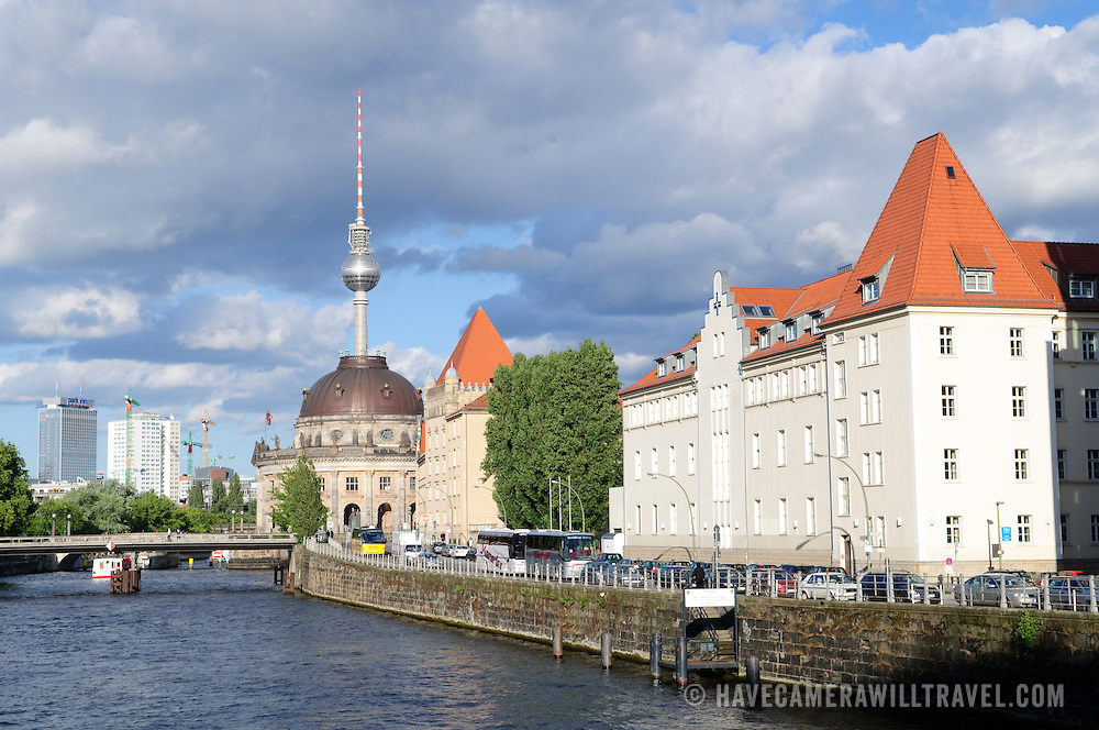 Banks of the Spree River in Berlin's Mitte district.