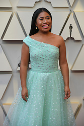 February 24, 2019 - Los Angeles, California, U.S - YALITZA APARICIO, in a seafoam green ball gown designed by Rodarte, during red carpet arrivals for the 91st Academy Awards, presented by the Academy of Motion Picture Arts and Sciences (AMPAS), at the Dolby Theatre in Hollywood. (Credit Image: © Kevin Sullivan via ZUMA Wire)