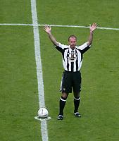 Photo: Andrew Unwin.<br /> Newcastle United v Glasgow Celtic. Alan Shearer Testimonial. 11/05/2006.<br /> Newcastle's Alan Shearer.