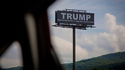A campaign superboard for Trump on the border between Tennessee and Georgia, not far from where Stan Brooks RAM clinic admits patients for free treatment. Both Tennessee and Georgia came out strong against ACA - the so called ObamaCare, and went overwhelmingly for Trump during the Presidential Election 2016.
