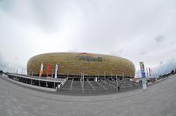 13.08.2011, PGE Arena, Gdansk, POL, UEFA Euro 2012, Stadion PGE Arena Gdansk, im Bild Features aus der Neu errichteten Stadion Baltic Arena in Danzig, Die PGE Arena Gda?sk ist ein Fußballstadion in der polnischen, an der Ostsee gelegenen Stadt Danzig (polnisch: Gda?sk). Es wurde als eines von acht Stadien für die Fußball-Europameisterschaft 2012 errichtet. Bei der EURO 2012 ist der Spielort für drei Gruppenspiele und ein Viertelfinale des Turniers vorgesehen. EXPA Pictures © 2011, PhotoCredit: EXPA/ Newspix/ Marcin Gadomski +++++ ATTENTION - FOR AUSTRIA/(AUT), SLOVENIA/(SLO), SERBIA/(SRB), CROATIA/(CRO), SWISS/(SUI) and SWEDEN/(SWE) CLIENT ONLY +++++