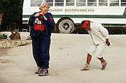 Tarahumara folk dance show for South Orient Express passengers.