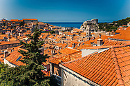 View of Dubrovnik from the walls, Croatia