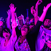 WASHINGTON, DC - October 26th, 2012 - Fans react as Major Lazer performs at the 9:30 Club in Washington, D.C.  The group, led by superstar DJ Diplo, plans on releasing their sophomore album in February 2013. (Photo by Kyle Gustafson / For The Washington Post)