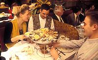 Wepler Brasserie, Paris..Plateau Fruits de mer, seafood . French restaurants