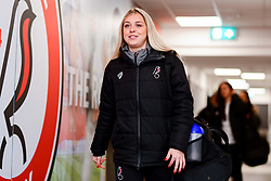 Poppy Pattinson of Bristol City arrives at Stoke Gifford Stadium prior to kick off - Mandatory by-line: Ryan Hiscott/JMP - 17/02/2020 - FOOTBALL - Stoke Gifford Stadium - Bristol, England - Bristol City Women v Everton Women - Women's FA Cup fifth round