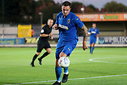 AFC Wimbledon attacker Tommy Wood (22) dribbling during the Pre-Season Friendly match between AFC Wimbledon and Brentford at the Cherry Red Records Stadium, Kingston, England on 5 July 2019.