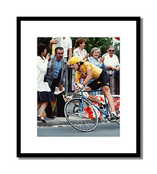 Laurent Fignon,<br /> Tour de France 1984<br /> <br /> As defending champion, Fignon wore the yellow jersey in the prologue time trial. The early skinsuit and aero handlebars were beginning to become the norm.