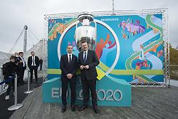 Aleksander Ceferin und Reinhard Grindel bei der UEFA Euro 2020 Logo Pr‰sentation f¸r die Spiele in M¸nchen / 271016<br /> <br /> ***Presentation of the Logo for the Munich games at the UEFA EURO 2020, October 27th, 2016***