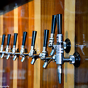 Microbrew Tap Handles At Northport Brewery In Northport Michigan