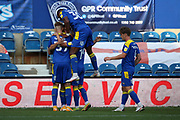 AFC Wimbledon attacker Ryan Longman (29) GOAL 4-2 during the EFL Sky Bet League 1 match between AFC Wimbledon and Plymouth Argyle at the Kiyan Prince Foundation Stadium, London, England on 19 September 2020.