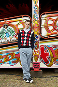 Portrait Of Teenager At Fairground