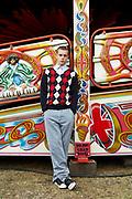 Portrait Of Teenager At Fairground