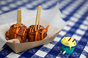 Morris Ramen's kimchi fried rice ball with tonkotsu sauce and gochujang mayo during the 4th annual Yum Yum Fest held at Breese Stevens Field, Sunday, August 6, 2017.