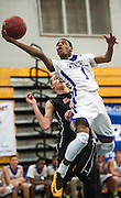 Westhill high school's Jeremiah Livingston goes up for a shot during an FCIAC boys basketball quarterfinal game against Stamford high school played at Fairfield Ludlowe high school, Fairfield, CT on Saturday, March, 1st, 2014.
