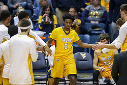 Nov 24, 2018; Morgantown, WV, USA; Valparaiso Crusaders guard Javon Freeman (0) is announced during the starting lineups before their game against the West Virginia Mountaineers at WVU Coliseum. Mandatory Credit: Ben Queen-USA TODAY Sports