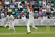 Craig Overton of Somerset appeals for an lbw during the Specsavers County Champ Div 1 match between Somerset County Cricket Club and Nottinghamshire County Cricket Club at the Cooper Associates County Ground, Taunton, United Kingdom on 10 June 2018. Picture by Graham Hunt.