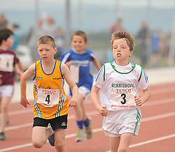 Taking part the Boys Under 10 200m were Owen Corcoran Ballinrobe and Niall McGreal Burrischoole at the Mayo Commmunity Games finals in Claremorris.<br /> Pic Conor McKeown