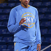 Chicago Sky Forward Betnijah Laney (44) seen during warm ups prior to a WNBA preseason basketball game between the Chicago Sky and the New York Liberty Friday, May. 22, 2015 at The Bob Carpenter Sports Convocation Center in Newark, DEL