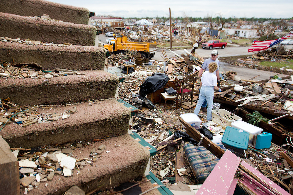 May 25, 2011- Keith and Robin Harden's home was one of the worst hit homes in the storm that came through Joplin, Missouri on Sunday, May 22, 2011. The tornado that devastated the area tore off the second level of their home. Credit: David Welker / TurfImages.com