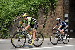 Sheyla Gutierrez and Lauren Kitchen work together in the break at the final stage of the Giro Rosa 2016 on 10th July 2016. A 104km road race starting and finishing in Verbania, Italy.