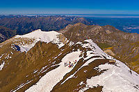 View from Piz Gloria atop the Schilthorn in the Swiss Alps, Canton Bern, Switzerland