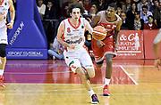 Amedeo Della Valle<br /> Grissin Bon Pallacanestro Reggio Emilia - Consultinvest Victoria Libertas Pesaro<br /> Lega Basket Serie A 2016/2017<br /> Reggio Emilia, 20/11/2016<br /> Foto A.Giberti / Ciamillo - Castoria