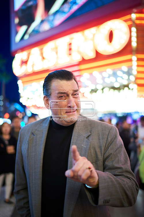 February 22, 2016. Las Vegas, Nevada.  The 22nd Reel Awards and Tribute Artist Convention in Las Vegas. Celebrity lookalikes from all over the world gathered at the Golden Nugget Hotel for the annual event. Pictured is  Robert De Niro lookalike, Robert Nash.<br /> Copyright John Chapple / www.JohnChapple.com /