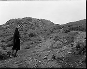 Actor Claire Bloom climbing the Sugar Loaf, Co. Wicklow..28.07.1960