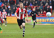Jayden Stockley (11) of Exeter City on the attack during the EFL Sky Bet League 2 match between Exeter City and Swindon Town at St James' Park, Exeter, England on 24 March 2018. Picture by Graham Hunt.