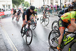 Mieke Kröger (GER) of CANYON//SRAM Racing accelerates out of a corner during the Prudential Ride London Classique - a 66 km road race, starting and finishing in London on July 29, 2017, in London, United Kingdom. (Photo by Balint Hamvas/Velofocus.com)