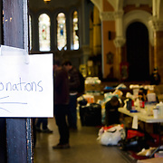 "Hundreds of volunteers part of the ""Occupy Sandy"" relief effort are based out of the Church of St. Luke and St. Matthews in Clinton Hill, Brooklyn as they prepare food and donations to be shipped out to disaster areas devastated by Hurricane Sandy. Become a volunteer with ""Occupy Sandy"" HERE:<br />