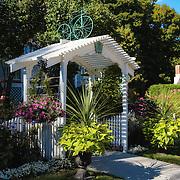 """""""A floral Welcome"""" <br /> <br /> Enjoy this lovely and charming entrance to Metivier Inn on Mackinac Island in summer!"""
