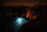 A night view of the camp called by the migrants the Jungle. Grande Synthe, France. FEDERICO SCOPPA/CAPTA