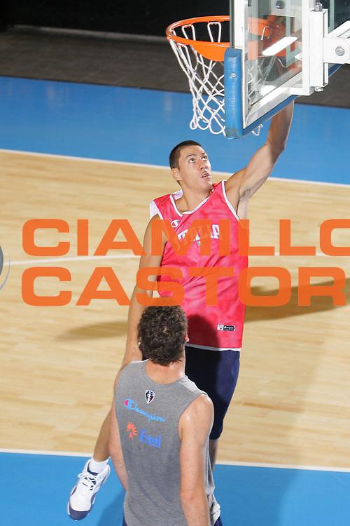 DESCRIZIONE : Bormio Ritiro Nazionale Italiana Maschile Preparazione Eurobasket 2007 Allenamento <br /> GIOCATORE : Fabio Di Bella <br /> SQUADRA : Nazionale Italia Uomini <br /> EVENTO : Bormio Ritiro Nazionale Italiana Uomini Preparazione Eurobasket 2007 <br /> GARA : <br /> DATA : 26/07/2007 <br /> CATEGORIA : Allenamento <br /> SPORT : Pallacanestro <br /> AUTORE : Agenzia Ciamillo-Castoria/S.Silvestri <br /> Galleria : Fip Nazionali 2007 <br /> Fotonotizia : Bormio Ritiro Nazionale Italiana Maschile Preparazione Eurobasket 2007 Allenamento <br /> Predefinita :