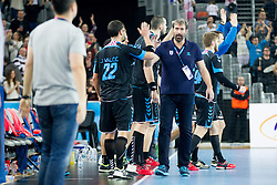 Veselin Vujovic, head coach of PPD Zagreb during handball match between PPD Zagreb (CRO) and RK Celje Pivovarna Lasko (SLO) in 13th Round of Group Phase of EHF Champions League 2015/16, on February 27, 2016 in Arena Zagreb, Zagreb, Croatia. Photo by Urban Urbanc / Sportida