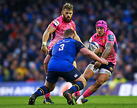 Rugby Union - 2017 / 2018 European Rugby Champions Cup - Pool Three: Leinster vs. Exeter Chiefs<br /> <br /> Exeter's Jack Nowell in action against Leinster's Tadhg Furlong, at Aviva Stadium, Dublin.<br /> <br /> COLORSPORT/KEN SUTTON