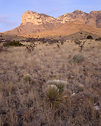 El Capitan, Sunrise, Dusk, Guadalupe Mountains, Guadalupe Mountains National Park, Texas
