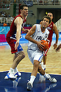 ATENE, 26 AGOSTO 2004<br /> BASKET, OLIMPIADI ATENE 2004<br /> ITALIA - PORTORICO<br /> NELLA FOTO: MASSIMO BULLERI<br /> FOTO CIAMILLO