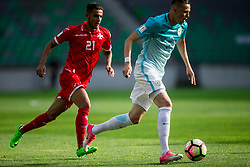 Stephen Pisani of Malta vs Josip Ilicic of Slovenia during football match between National teams of Slovenia and Malta in Round #6 of FIFA World Cup Russia 2018 qualifications in Group F, on June 10, 2017 in SRC Stozice, Ljubljana, Slovenia. Photo by Vid Ponikvar / Sportida