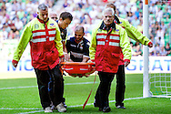 Onderwerp/Subject: Willem II - Eredivisie<br /> Reklame:  <br /> Club/Team/Country: <br /> Seizoen/Season: 2012<br /> FOTO/PHOTO: Hans MULDER of Willem II leaving the pitch on a stretcher. (Photo by PICS UNITED)<br /> <br /> Trefwoorden/Keywords: <br /> #03 #06 $94 ±1341399422636<br /> Photo- & Copyrights © PICS UNITED <br /> P.O. Box 7164 - 5605 BE  EINDHOVEN (THE NETHERLANDS) <br /> Phone +31 (0)40 296 28 00 <br /> Fax +31 (0) 40 248 47 43 <br /> http://www.pics-united.com <br /> e-mail : sales@pics-united.com (If you would like to raise any issues regarding any aspects of products / service of PICS UNITED) or <br /> e-mail : sales@pics-united.com   <br /> <br /> ATTENTIE: <br /> Publicatie ook bij aanbieding door derden is slechts toegestaan na verkregen toestemming van Pics United. <br /> VOLLEDIGE NAAMSVERMELDING IS VERPLICHT! (© PICS UNITED/Naam Fotograaf, zie veld 4 van de bestandsinfo 'credits') <br /> ATTENTION:  <br /> © Pics United. Reproduction/publication of this photo by any parties is only permitted after authorisation is sought and obtained from  PICS UNITED- THE NETHERLANDS