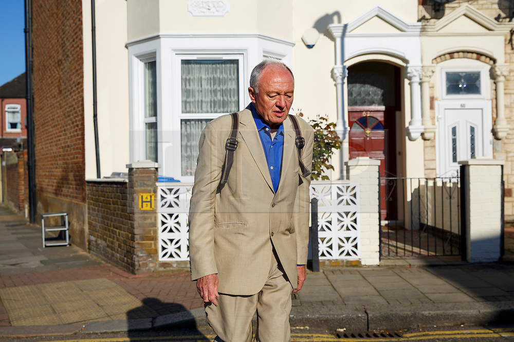 © Licensed to London News Pictures. 30/04/2016. London, UK. Former London mayor KEN LIVINGSTONE leaving his north London home to host his LBC radio show on Saturday, 30 April 2016 after being suspended from Labour Party amid anti-Semitism claims. Photo credit: Tolga Akmen/LNP