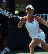 US Open 2007 28/08/07 .Agnieszka Radwanska (POL) during first round match.Photo Anne Parker Fotosports International.